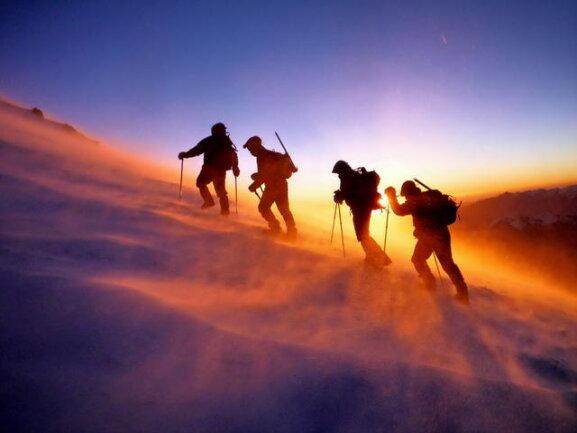 Siegermotiv: die Besteigung des Elbrus.