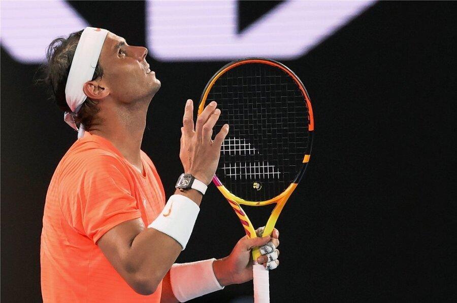 Die Reaktion von Rafael Nadal nach einem verlorenen Punkt ist eindeutig.