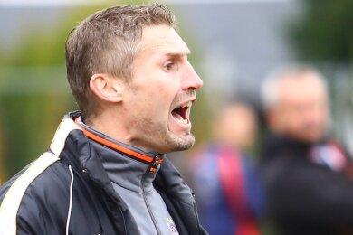 Nico Barthold, der Trainer des BSV Gelenau, wird seine Männer noch oft lautstark dirigieren müssen.