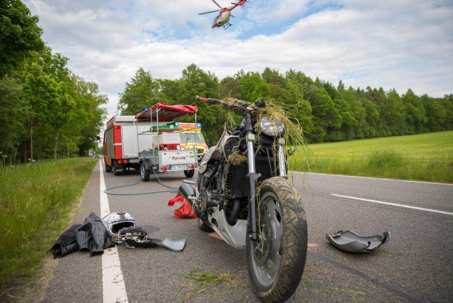 Unfall mit Krad-Fahrer auf B173