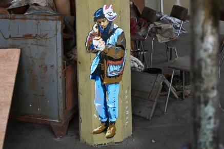 Grafittikunst in der alten Buntpapierfabrik.