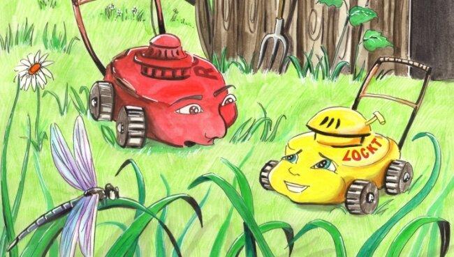 """""""Locktidock der Rasenmäher"""" heißt das Buch, das die Kirchbergerin Susanne Schröpel illustriert hat."""