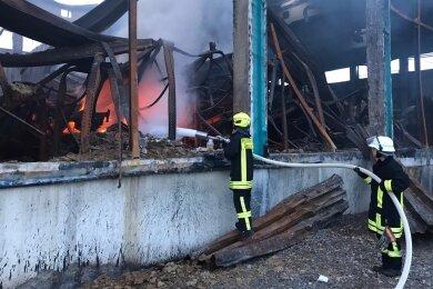 Erneut hat es bei WSVK im Gewerbegebiet gebrannt.