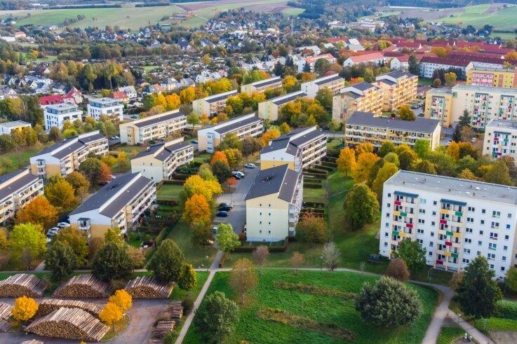 Das Albrecht-Dürer-Wohngebiet in Stollberg. Die Stadt übernimmt die Wärmeversorgung für die Siedlung bald in eigener Regie.