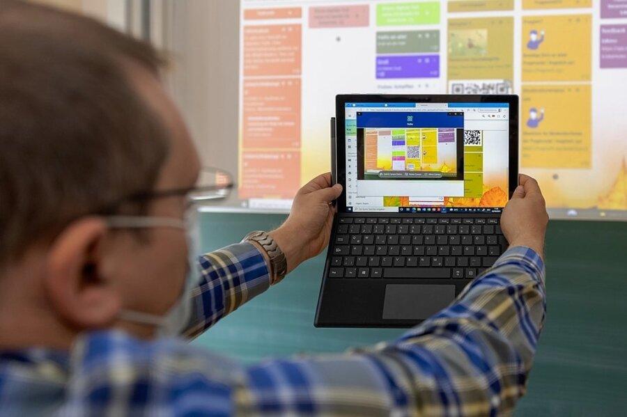 Einen QR-Code mit dem Tablett scannen und schon kann es losgehen: Die Möglichkeiten für Pädagogen, digitale Hilfsmittel in den Unterricht einzubinden, sind schier grenzenlos. Was alles geht, vermittelt das Team des Medienpädagogischen Zentrums Erzgebirgskreis mit Sitz in Stollberg.