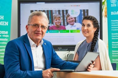 Rüdiger School und Melissa Blankenship-Küttner wollen die Chancen der Digitalisierung nutzen.