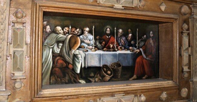 Dieses Abendmahlsgemälde ist eine Kopie des gestohlenen Werkes.