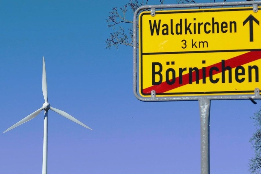 Die Windenergieanlage auf einer Anhöhe zwischen Börnichen und Waldkirchen wurde ohne gültige Baugenehmigung errichtet.