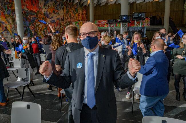 Sven Schule bei der Bekanntgabe der Jury-Entscheidung.