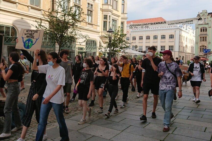 Erneut jugendliche Klima-Demo in Zwickau