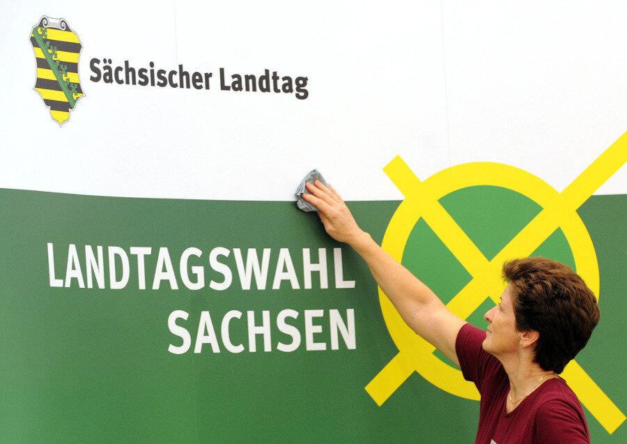 Die Sachsen stimmen über einen neuen Landtag ab