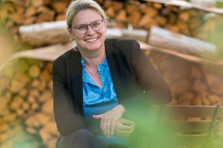 Katja Rosenbaum ist gemeinsam mit ihrer Familie zurück in ihre Heimatstadt Marienberg gezogen.