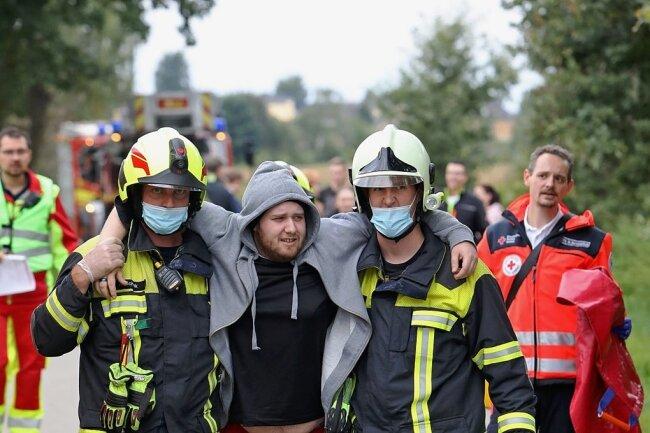 Einige der insgesamt mehr als 20 Opfer sind nur leicht verletzt.
