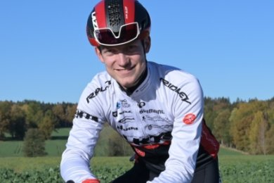 Pierre-Pascal Keup ist die Freude anzusehen, dass er seit einigen Wochen wieder auf dem Rad trainieren kann.