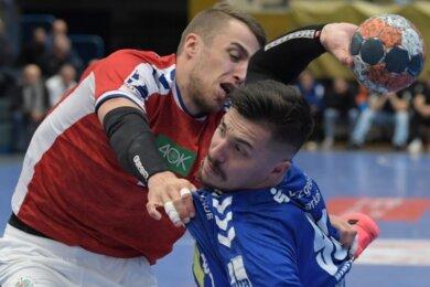 Aues Goncalo Ribeiro hat in Eisenach einen starkes Comeback gefeiert. Der Portugiese, der vorigen Sommer zum EHV kam, musste wegen eines Handbruchs mehrere Wochen pausieren. Im Ost-Derby und Handball-Klassiker am Sonnabend steuerte er fünf Tore zum 24:24 bei.