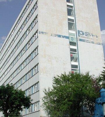 Das markante Bürogebäude beherbergte einst die Verwaltung des ehemaligen PSW.