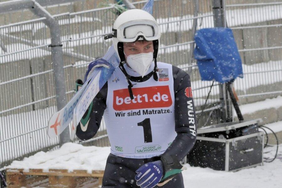 Martin Hahn vom VSC Klingenthal hatte sich für den Heimweltcup in Klingenthal mehr ausgerechnet, doch leider hat es auf der Schanze in der Vogtland-Arena bei ihm nicht so funktioniert wie geplant.