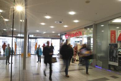 Innenansicht des Plauener Einkaufszentrums Kolonnaden