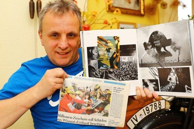 Vor zehn Jahren erhielt Thomas Neubert auf dem Sachsenring ein ganz besonderes Autogramm von Valentino Rossi.