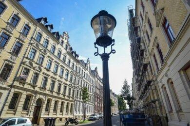 Blick in die Markusstraße: Das Gesicht des Sonnenbergs ist in den vergangenen Jahren ein deutlich freundlicheres geworden. Die einst stadtteiltypischen unsanierten Altbauten sind an vielen Straßen fast alle verschwunden.