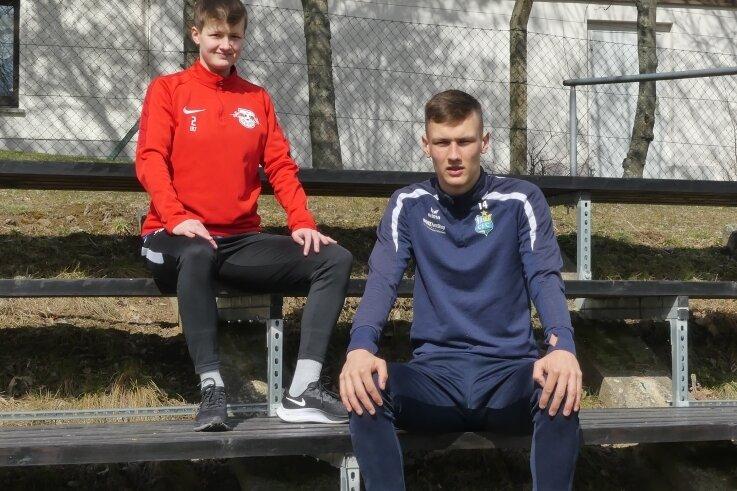 Auf dem Sprung nach oben: Sarah und Jonas Dittrich aus Sayda, die inzwischen bei RB Leipzig und beim CFC am Ball sind.