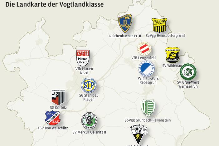 Diese Mannschaften treten in der Vogtlandklasse an