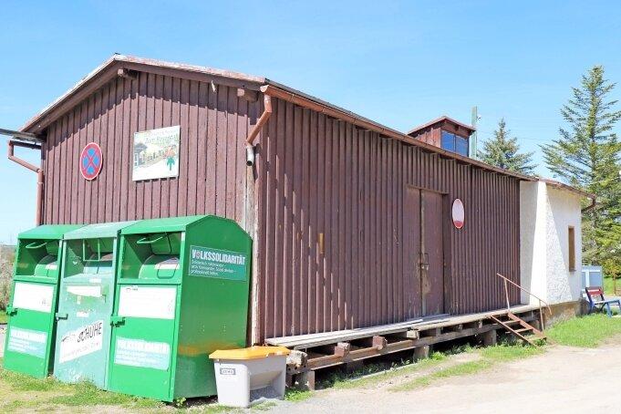 Aus dem alten Güterboden des Naundorfer Bahnhofs soll ein Ausstellungsraum werden.
