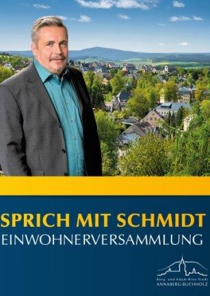 """Ende Oktober Oberbürgermeister Rolf Schmidt wieder """"auf Tour"""". Unter dem Motto """"Sprich mit Schmidt"""" finden regelmäßig Bürgerversammlungen statt."""