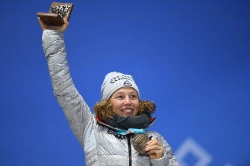 Laura Dahlmeier trainiert wieder auf Schnee