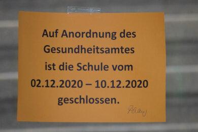Die Oberschule Gablenz bleibt bis 10. Dezember geschlossen.