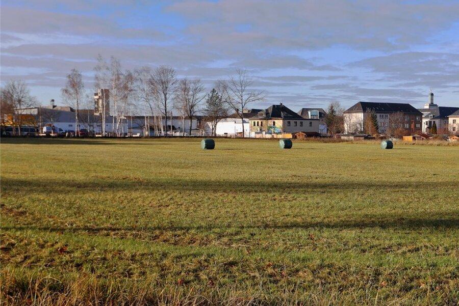 Diese Freifläche an der Schlachthofstraße in Glauchau soll ein Wohngebiet werden.