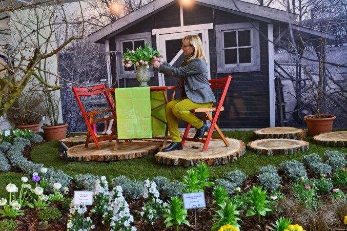 Schöne Scholle: Der Garten im Wandel ist Thema der Frühjahrsschau im Egapark Erfurt. Bis 12. April sind Besucher dort täglich von 9 bis 18 Uhr in die farbenfrohe Ausstellung eingeladen.