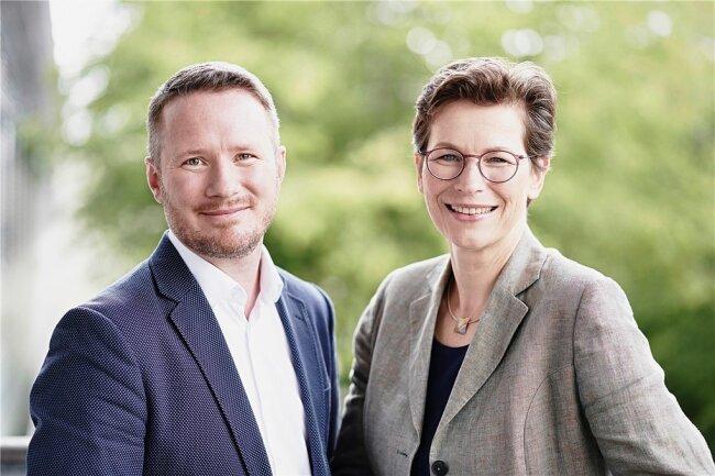 Rainer Simader und Claudia Bausewein.