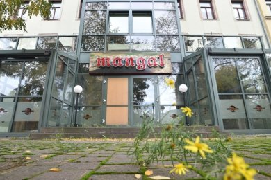"""Nach dem Anschlag im Oktober 2018 wurde das Restaurant """"Mangal"""" geschlossen. Der Wirt wird es nicht wieder eröffnen."""