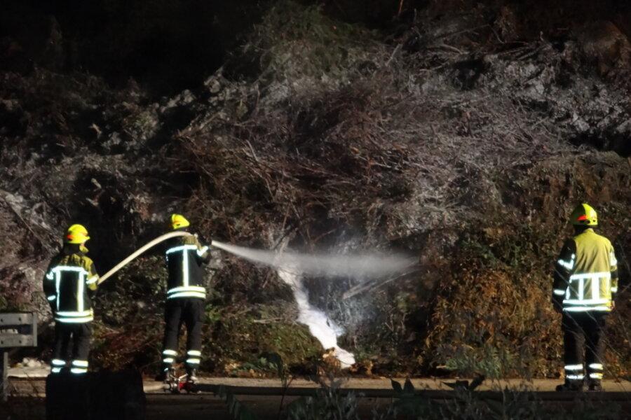 Die Feuerwehr konnte das Feuer am Abend löschen.