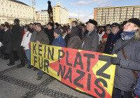 Chemnitzer zeigen Gesicht gegen Rechts