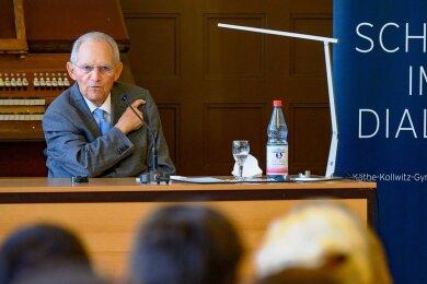 Wolfgang Schäuble zu Besuch im Käthe-Kollwitz-Gymnasium in Zwickau