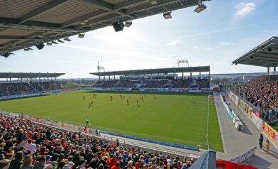 Der FSV Zwickau bei einem Heimspiel in der GGZ-Arena.
