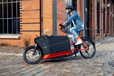 Lastenräder werden auch in Sachsens Städten immer populärer. Wem das Fahren mit reiner Pedalkraft zu anstrengend ist, der kann sich elektrisch unterstützen lassen. Das jedoch hat seinen Preis: Das Packster 70 von Riese & Müller - ein Rad in Long-John-Bauweise - kostet über 5500 Euro.