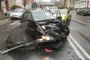 Ein BMW ist am Dienstagnachmittag in Chemnitz mit einem Kleintransporter kollidiert.