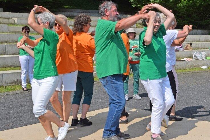Ein Setdance Workshop fand am Samstag in Reichenbach statt.