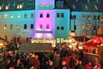 Die Schlossweihnacht in Zwickau wird derzeit vorbereitet.