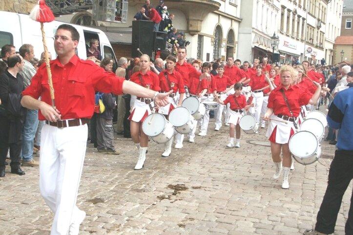 """<p class=""""artikelinhalt"""">Die Crimmitschauer Fanfaren werden den Festumzug zum Feuerwehrjubiläum anführen. </p>"""