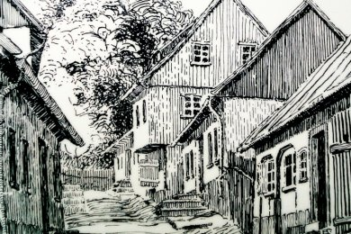 Alt-Falkenstein nannte Hans Poller aus Auerbach diese Bild. Der Autor gewann damit 1913 einen Wettbewerb und erhielt als Prämie 15 Reichsmark, was damals fast einem Wochenlohn entsprach.