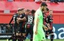 Bayer Leverkusen bejubelt den späten Ausgleich
