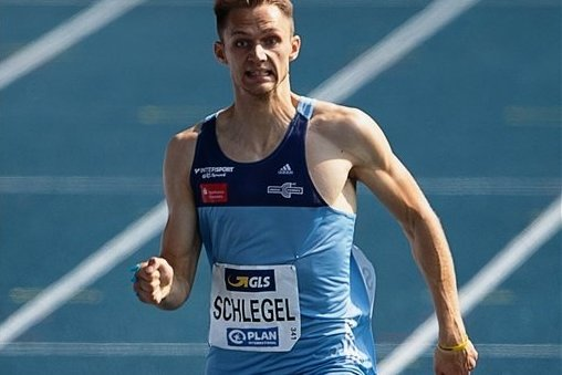 400-Meter-Ass Marvin Schlegel stürmt unangefochten dem Sieg und seinem ersten Deutschen Meistertitel entgegen.