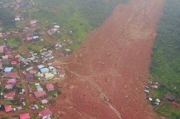 Unwetter lösten 2017 in Sierra Leone einen Erdrutsch aus.