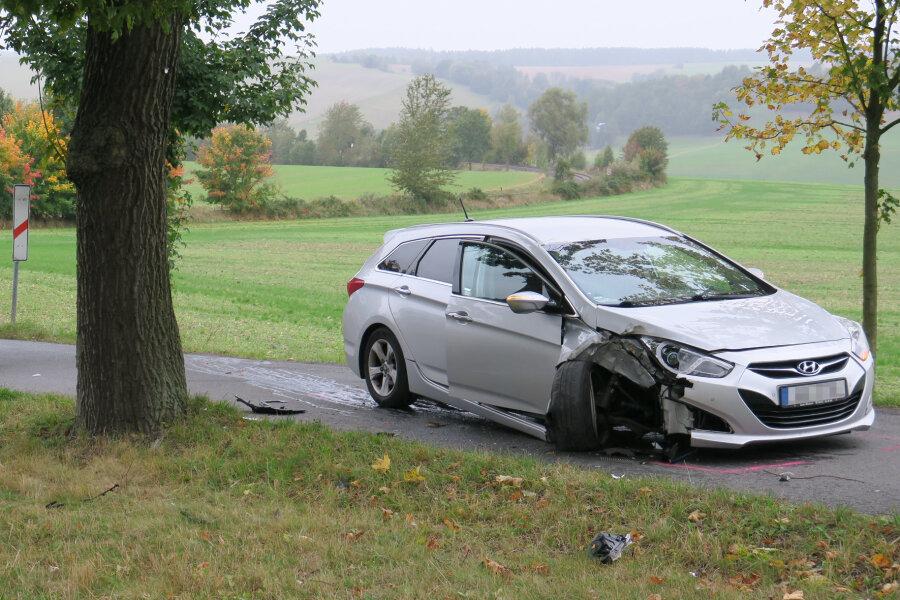 Unfall zwischen Lenkersdorf und Lößnitz