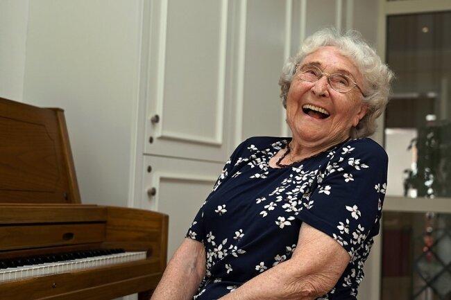 Erika Schirmer feiert am Samstag ihren 95. Geburtstag.