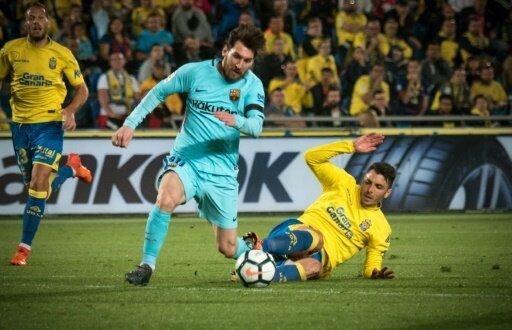 Las Palmas trotzt Barca und Messi (Mitte) einen Punkt ab